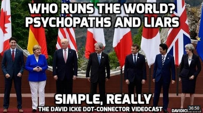 Who Runs The World? Psychopaths and Liars – Simple Really